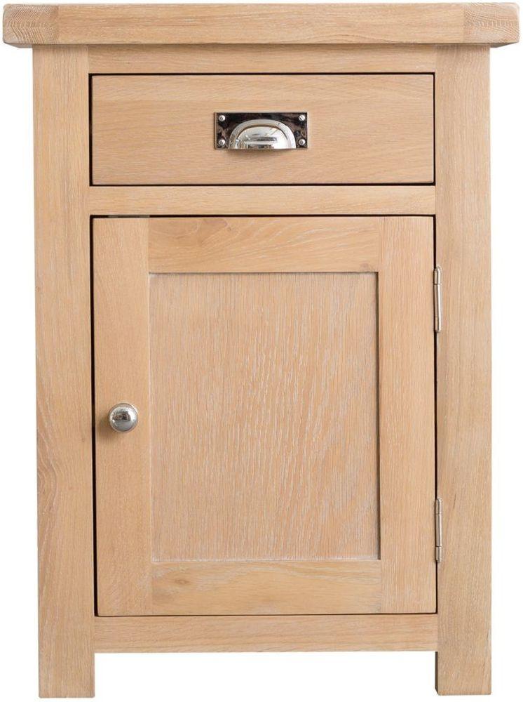 Henley Oak 1 Door 1 Drawer Cupboard