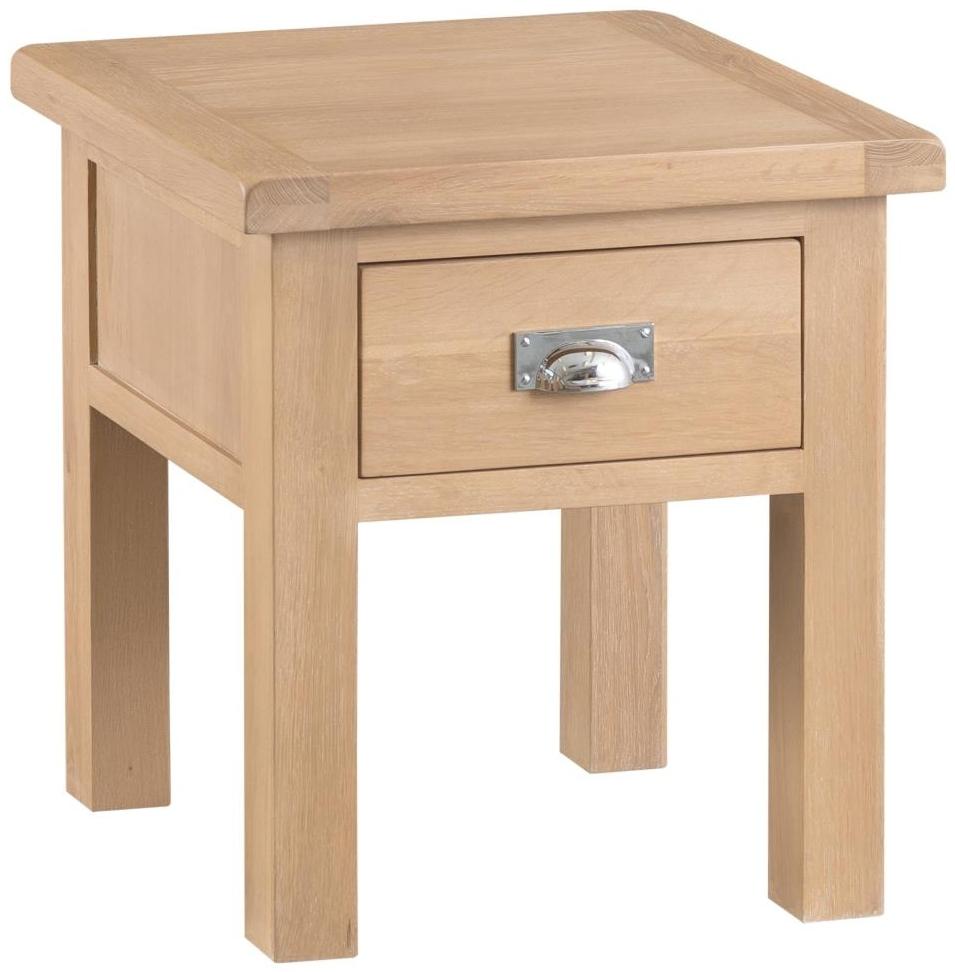 Henley Oak 1 Drawer Lamp Table