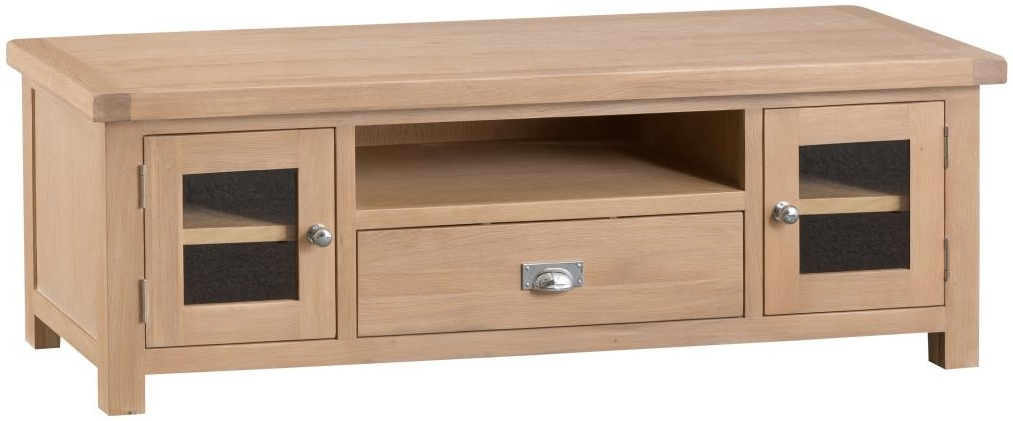 Henley Oak 2 Door 1 Drawer TV Unit