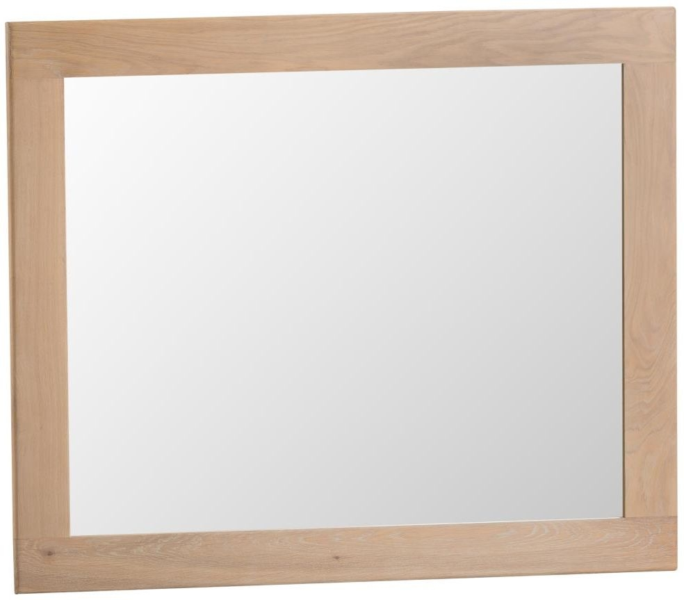 Henley Oak Rectangular Wall Mirror - 120cm x 100cm