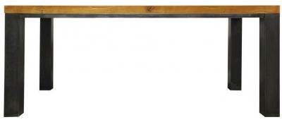Industrial Oak Dining Table - 1.8m