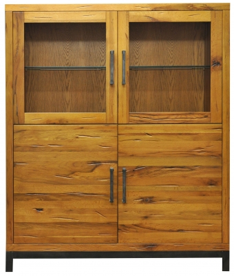 Industrial Oak Highboard with Lights