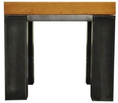Industrial Oak Side Table