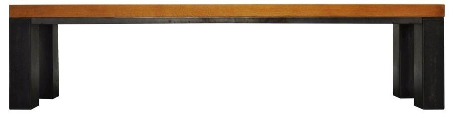 Industrial Oak Dining Bench - Large