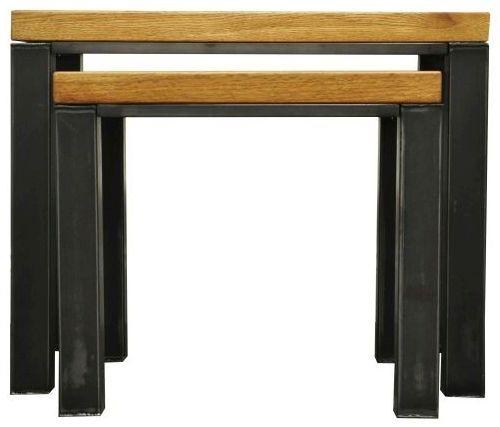 Industrial Oak Nest of 2 Tables