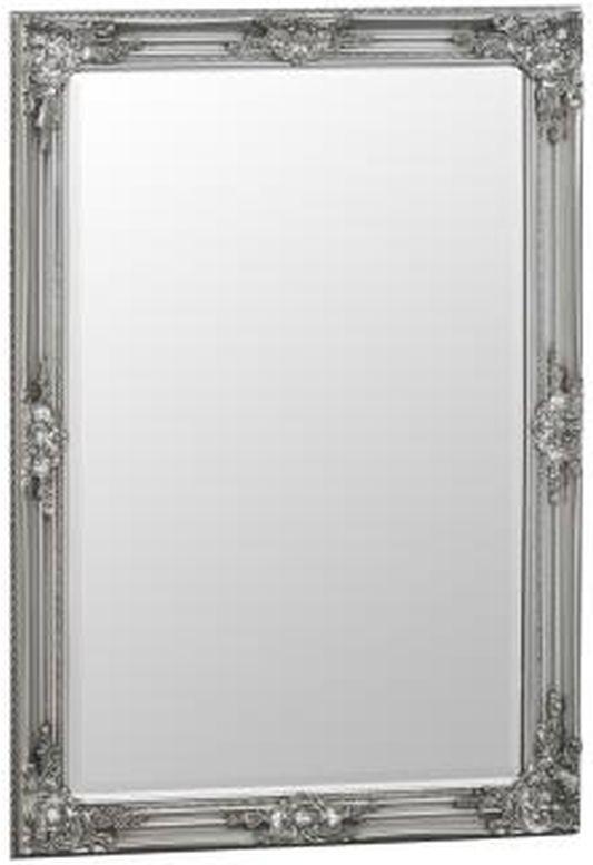 Buy Silver Wooden Frame Rectangular Beveled Mirror - 75cm x 105cm ...
