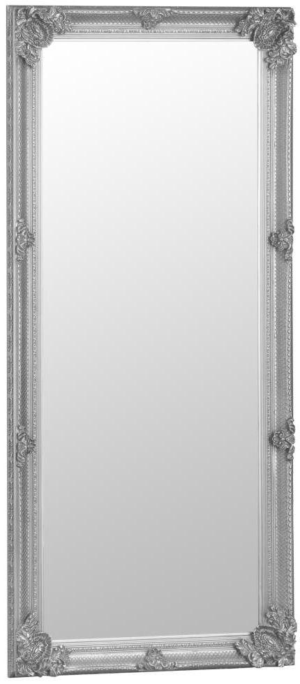 Buy Silver Wooden Frame Rectangular Beveled Mirror - 80cm x 175cm ...