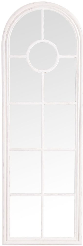 White Arch Window Mirror - 60cm x 180cm