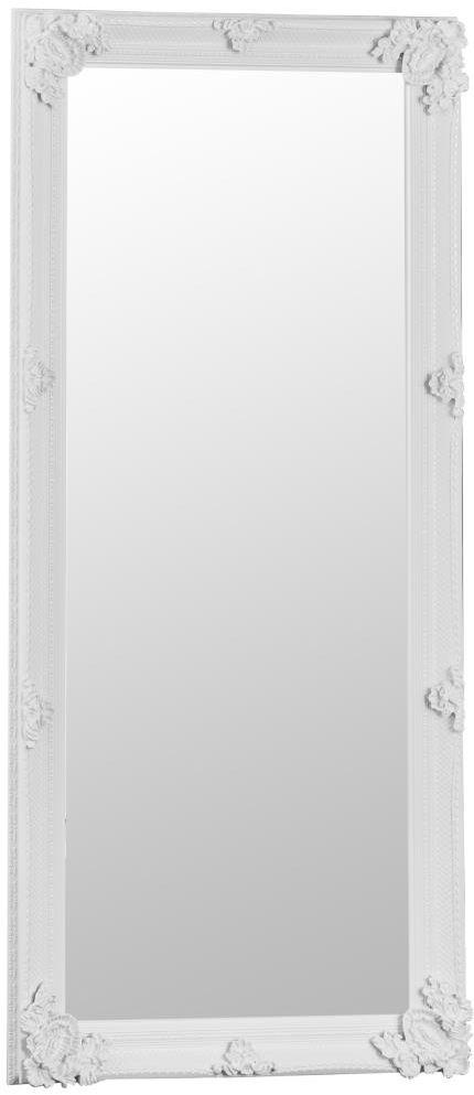 Buy White Wooden Frame Rectangular Beveled Mirror - 80cm x 175cm ...