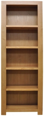 Newton Oak Bookcase - Large Narrow