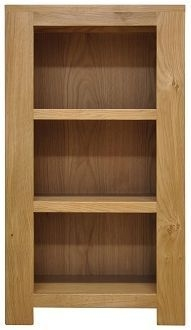 Newton Oak Bookcase - Small Narrow