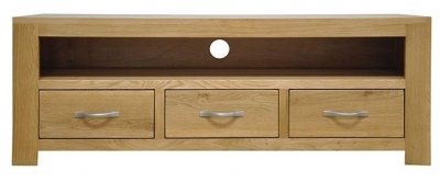 Newton Oak TV Unit - Large