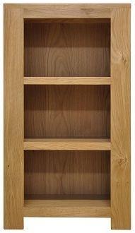 Newton Oak Bookcase - Small Narrow