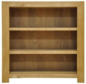 Newton Oak Bookcase - Small Wide