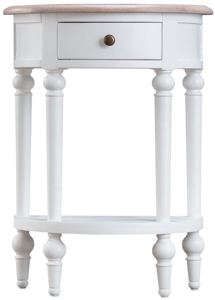 Penelope Oak And White Painted 1 Drawer Telephone Table