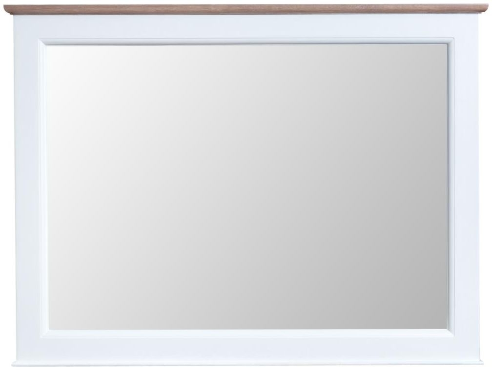 Penelope Oak and White Painted Wall Mirror