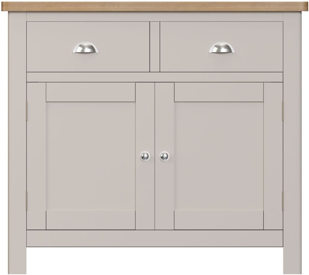 Portland Medium Sideboard - Oak and Dove Grey Painted