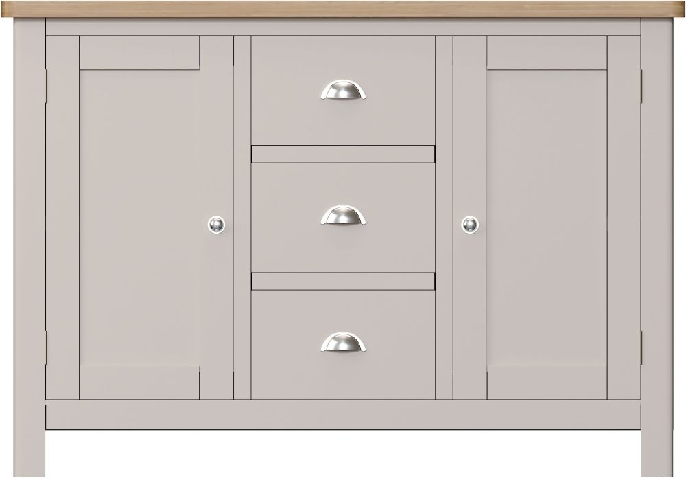 Portland Large Sideboard - Oak and Dove Grey Painted