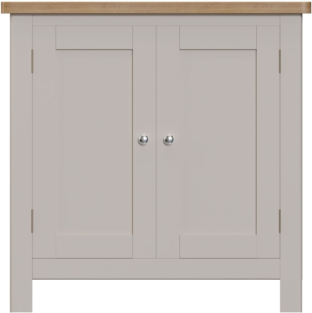 Portland Small Sideboard - Oak and Dove Grey Painted