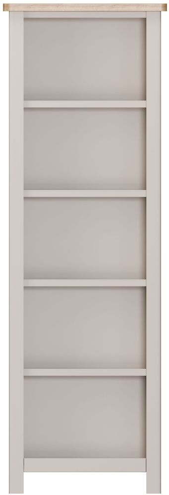 Portland Tall Bookcase - Oak and Dove Grey Painted