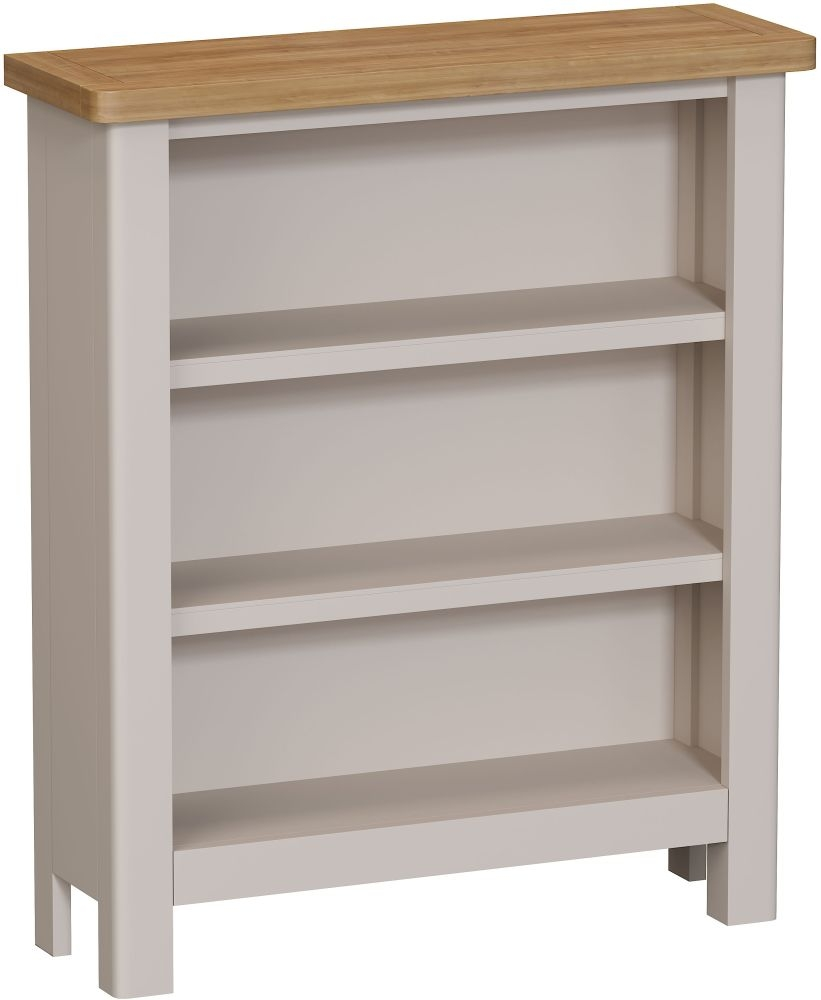 Portland Oak and Dove Grey Painted Bookcase