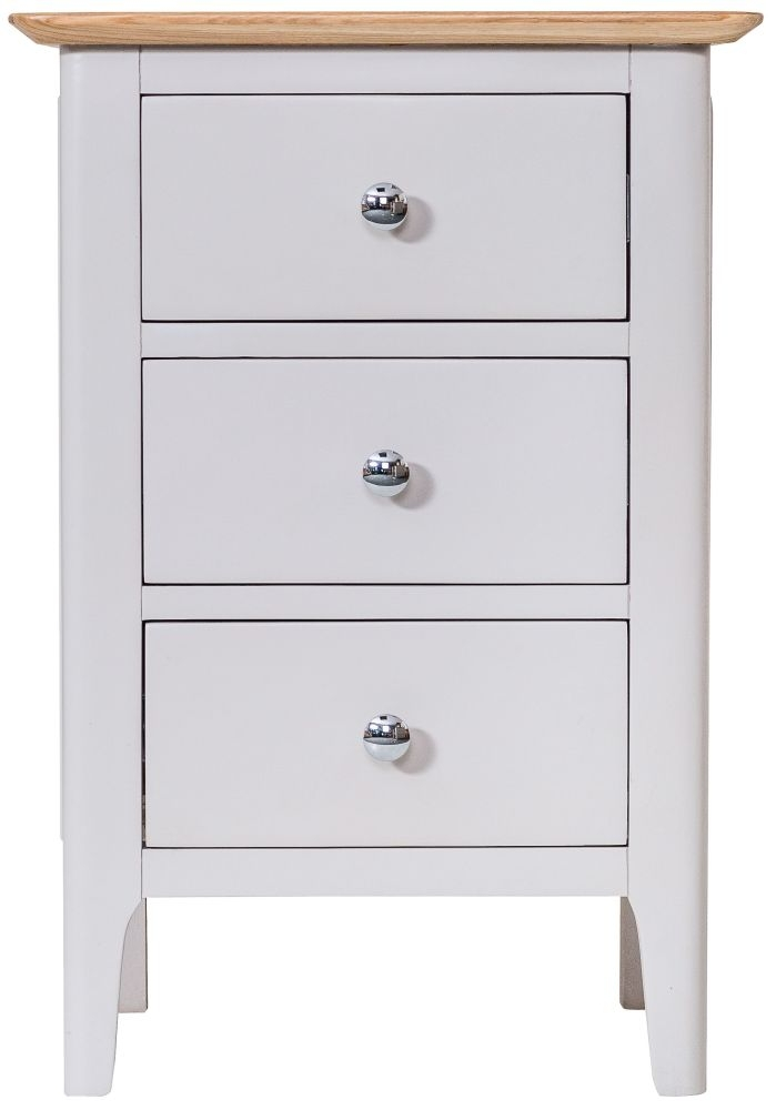 Shore Bedside Cabinet - Oak and Dove Grey Painted