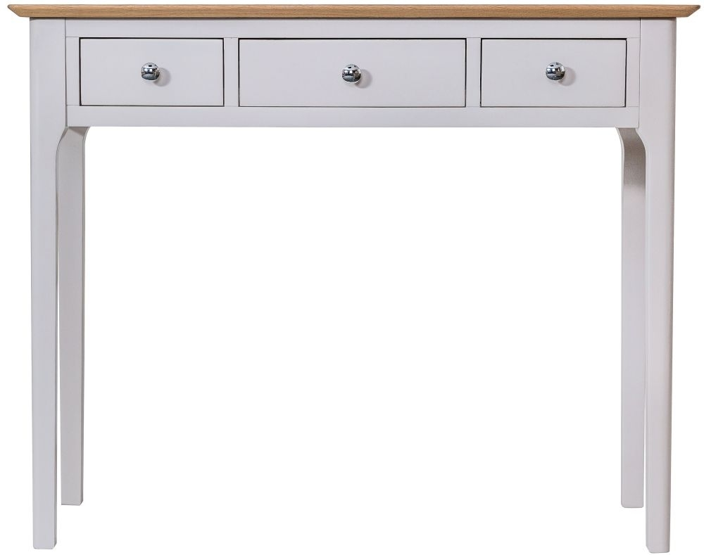 Shore Oak and Dove Grey Painted 3 Drawer Dressing Table