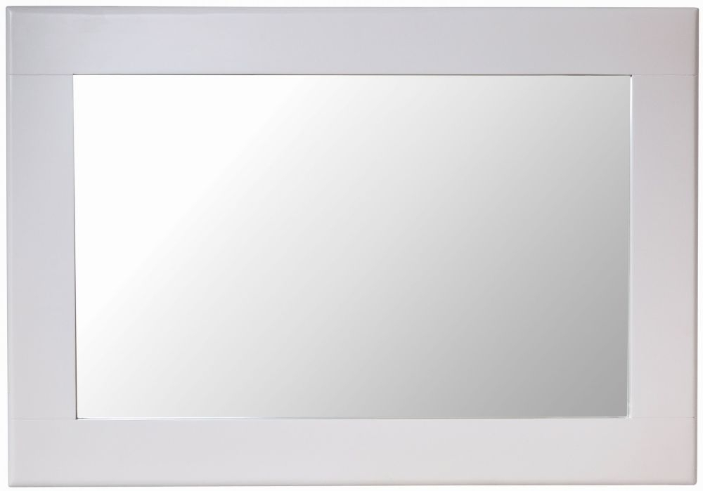 Shore Rectangular Wall Mirror - 100cm x 70cm Dove Grey Painted