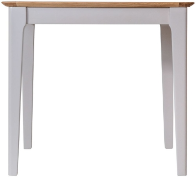 Shore Oak and Dove Grey Painted Square Dining Table