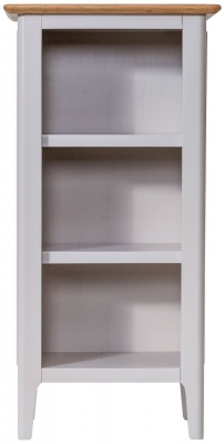 Shore Oak and Dove Grey Painted Small Bookcase