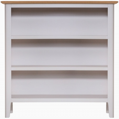 Shore Oak and Dove Grey Painted Bookcase