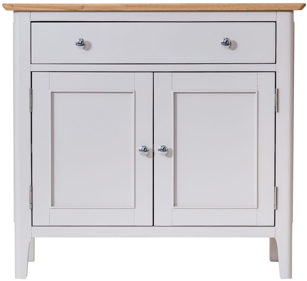 Shore Small Sideboard - Oak and Dove Grey Painted