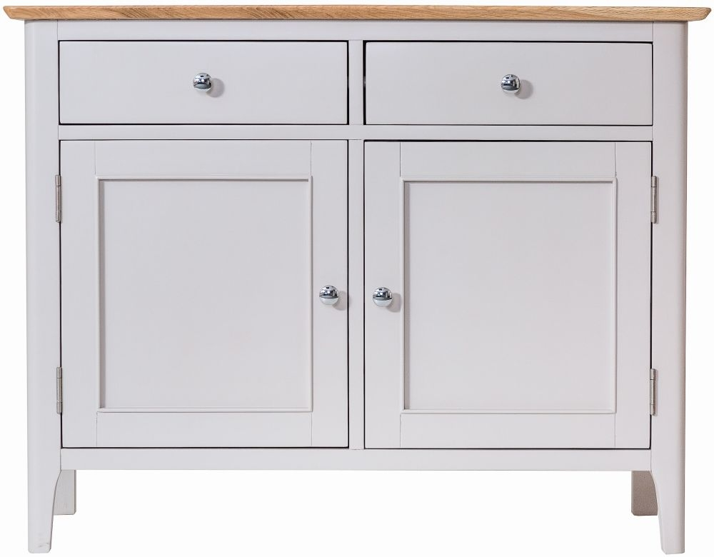 Shore Medium Sideboard - Oak and Dove Grey Painted