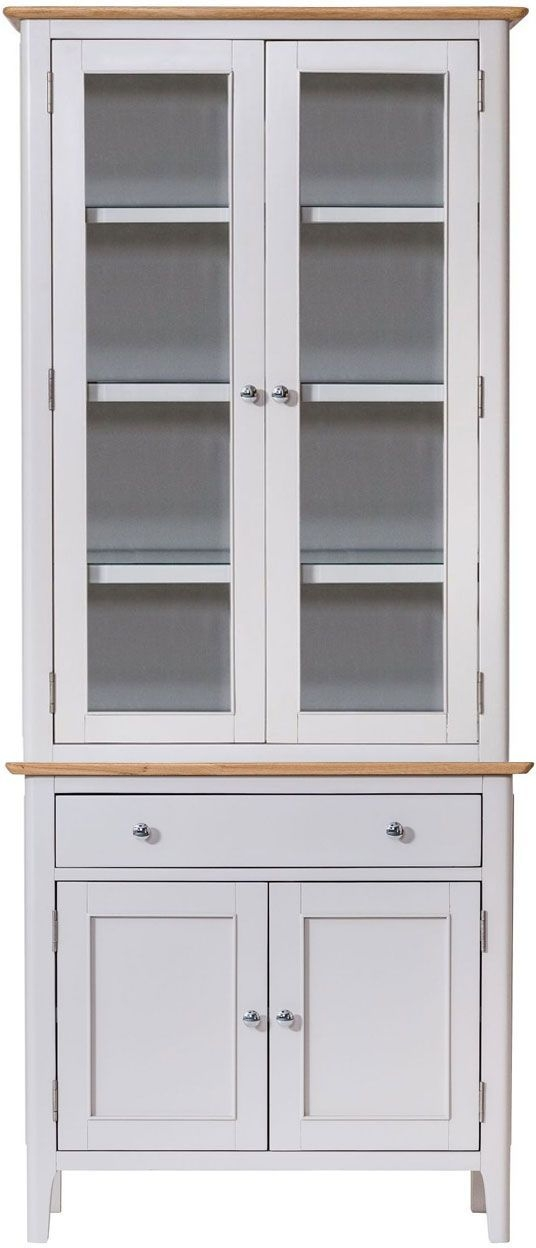 Shore Oak and Dove Grey Painted 4 Door 1 Drawer Dresser
