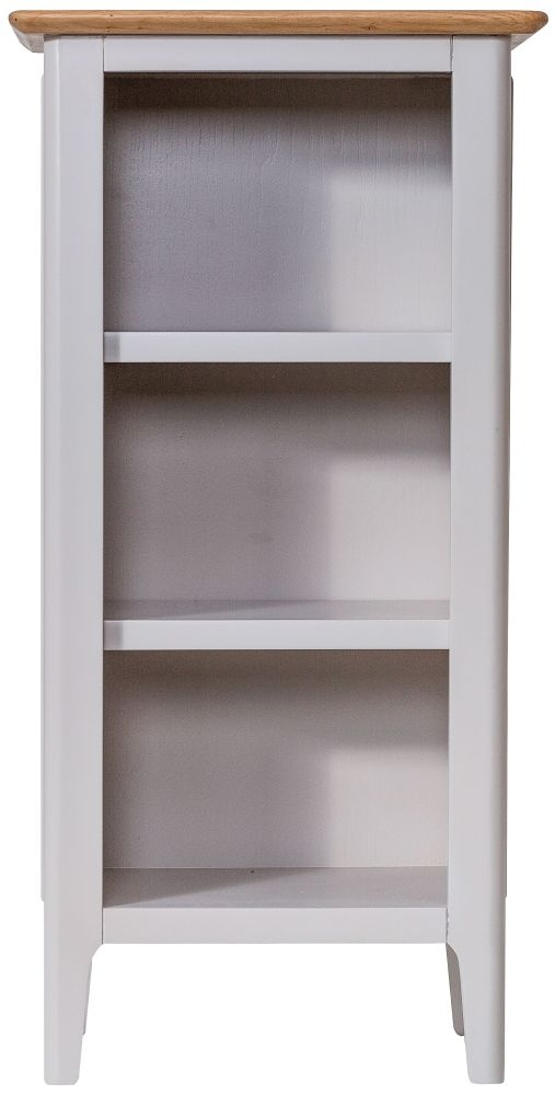 Shore Small Bookcase - Oak and Dove Grey Painted