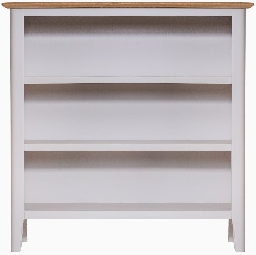 Shore Bookcase - Oak and Dove Grey Painted