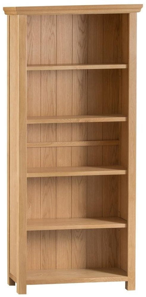 Sidmouth Natural Oak Wide Bookcase