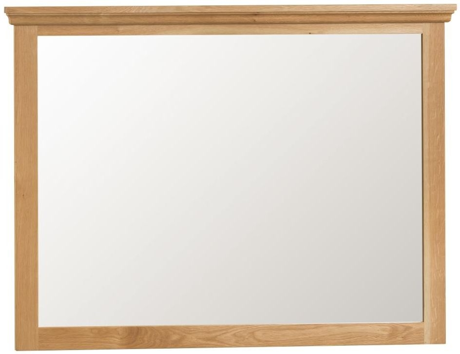Sidmouth Natural Oak Rectangular Mirror