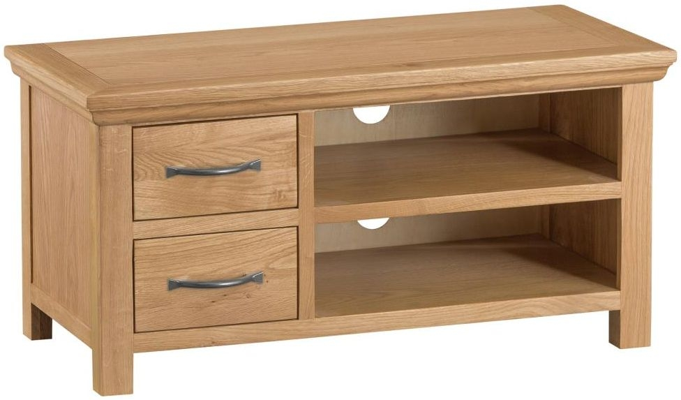 Sidmouth Natural Oak 2 Drawer Standard TV Unit