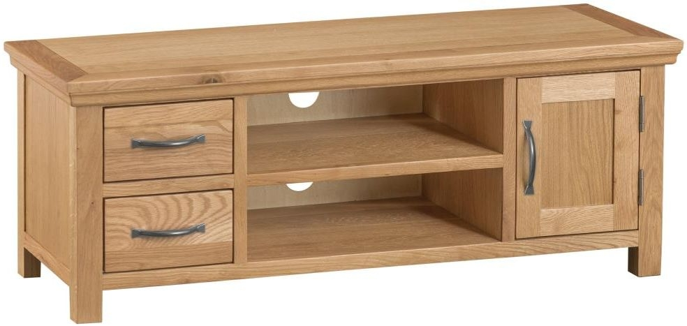 Sidmouth Natural Oak Large TV unit