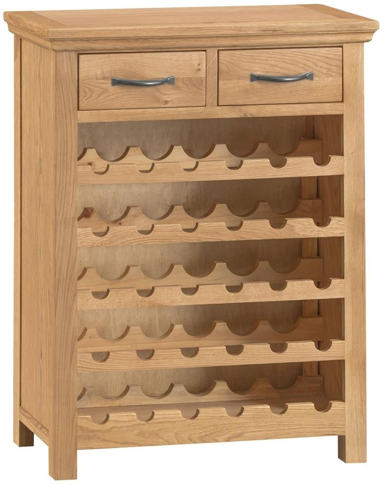 Sidmouth Natural Oak Wine Cabinet