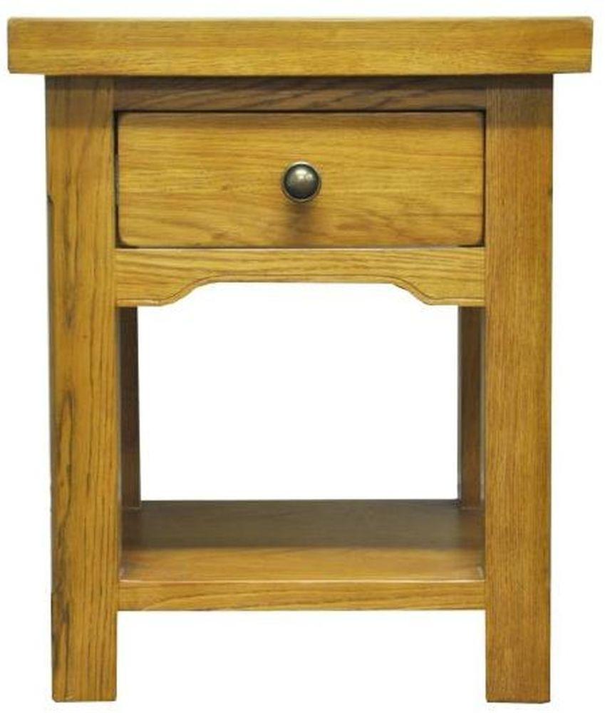 Tewksbury Oak 1 Drawer Lamp Table