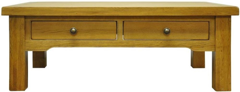 Tewksbury Oak 4 Drawer Storage Coffee Table