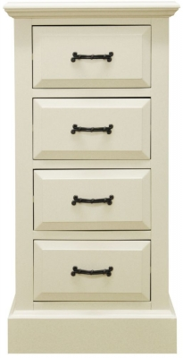 Toulouse Painted Pine Chest of Drawer - 4 Drawer