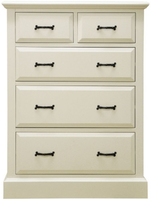 Toulouse Painted Pine Chest of Drawer - Jumbo 2 Over 3 Drawer