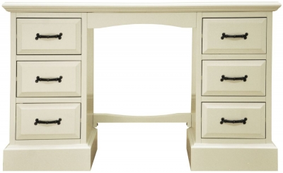 Toulouse Painted Pine Dressing Table - Double Pedestal