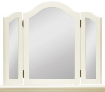 Toulouse Painted Pine Trinket Mirror