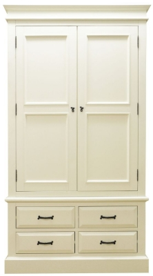 Toulouse Painted Pine Wardrobe - 2 Door 4 Drawer