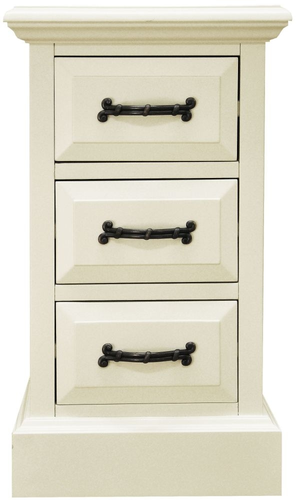 Toulouse Painted Pine Bedside Cabinet - Narrow