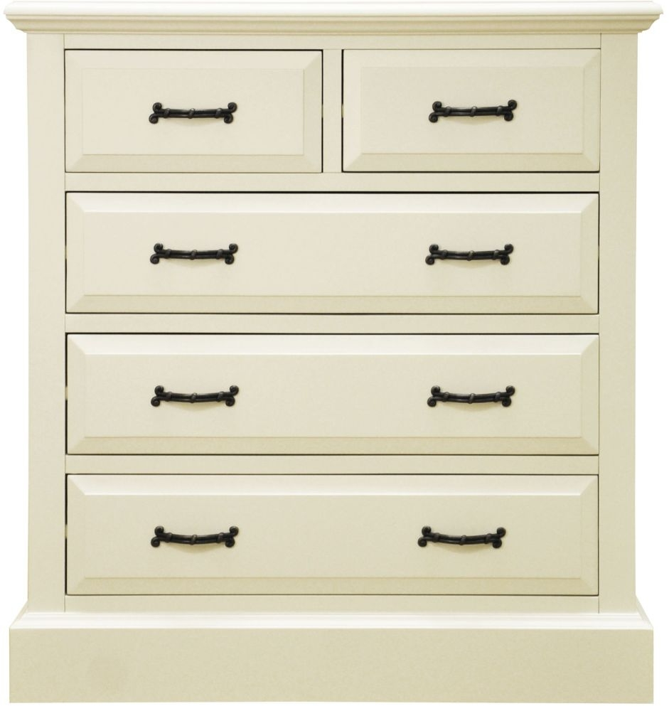 Toulouse Painted Pine Chest of Drawer - 2 Over 3 Drawer